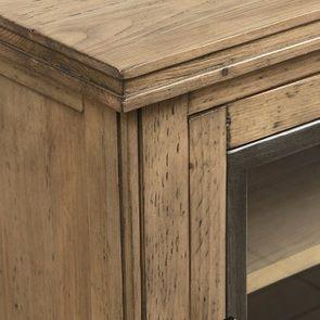 Console 2 portes vitrées en bois massif - Initiale - Visuel n°13