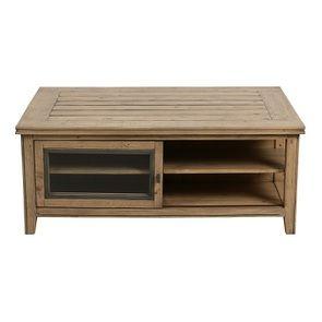 Table basse en bois massif – Initiale