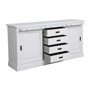 Bas de buffet 2 portes 4 tiroirs blanc - Rhode Island - Visuel n°6