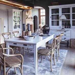 Table à manger extensible Blanc Satiné- Rhode Island - Visuel n°3