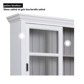 Buffet 3 portes vitrées blanc -Rhode Island - Visuel n°17