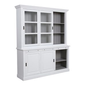 Buffet 3 portes vitrées blanc -Rhode Island - Visuel n°6