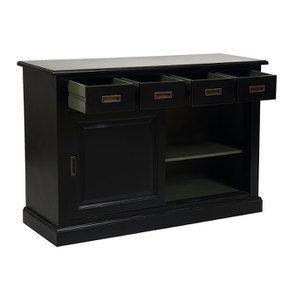 Bas de buffet 4 tiroirs 2 portes noir - Rhode Island - Visuel n°3