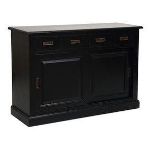 Bas de buffet 4 tiroirs 2 portes noir - Rhode Island - Visuel n°4
