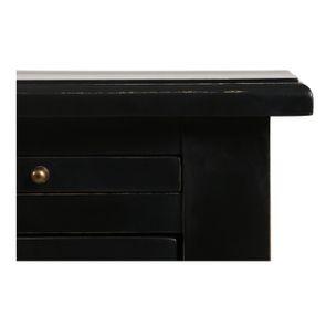 Bas de buffet 2 portes 4 tiroirs noir - Rhode Island - Visuel n°12