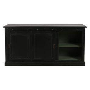 Bas de buffet 2 portes 4 tiroirs noir - Rhode Island - Visuel n°2
