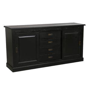 Bas de buffet 2 portes 4 tiroirs noir - Rhode Island - Visuel n°7