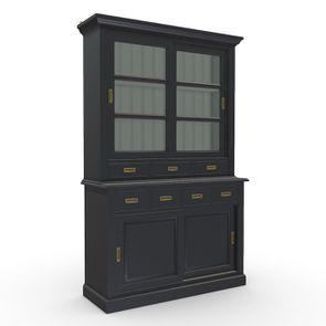 Buffet 2 portes vitrées noir - Rhode Island - Visuel n°2