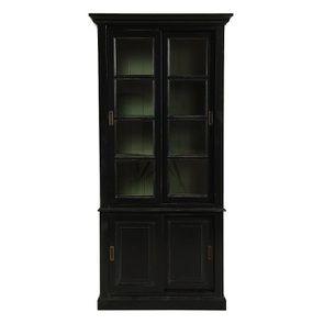 Vitrine 2 portes noire – Rhode Island