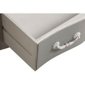 Commode galbée grise 5 tiroirs - Gustavien - Visuel n°14