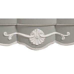 Commode galbée grise 5 tiroirs - Gustavien - Visuel n°17