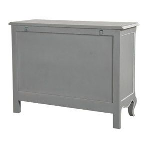Commode galbée grise 5 tiroirs - Gustavien - Visuel n°10