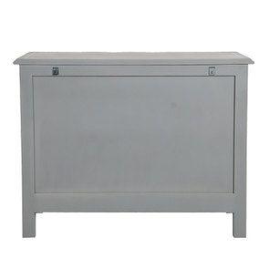 Commode galbée grise 5 tiroirs - Gustavien - Visuel n°11