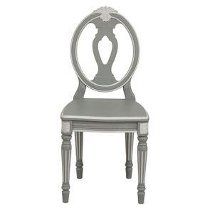Chaise romantique en pin massif gris - Gustavien - Visuel n°1