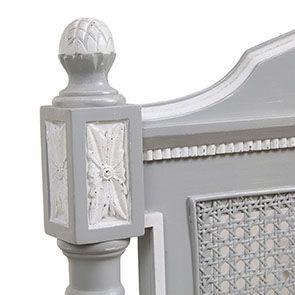 Lit enfant 90x190 en bois gris rechampis blanc - Gustavien - Visuel n°7