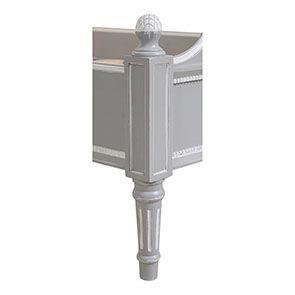 Lit enfant 90x190 en bois gris rechampis blanc - Gustavien - Visuel n°9
