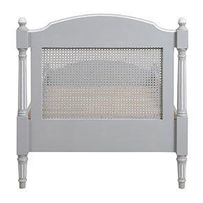 Lit enfant 90x190 en bois gris rechampis blanc - Gustavien - Visuel n°4