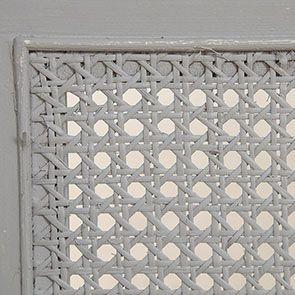Lit 160x200 en bois gris rechampis blanc - Gustavien - Visuel n°11