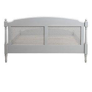 Lit 160x200 en bois gris rechampis blanc - Gustavien - Visuel n°4