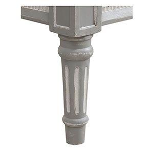 Lit 180x200 en bois gris rechampis blanc - Gustavien - Visuel n°6