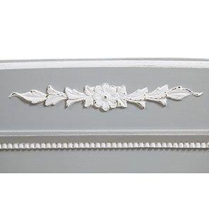 Lit 180x200 en bois gris rechampis blanc - Gustavien - Visuel n°8