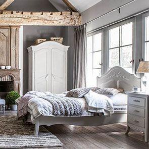 Armoire 2 portes en bois sable rechampis blanc - Lubéron - Visuel n°3