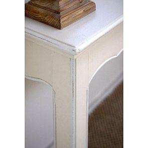 Console d'entrée sable rechampis blanc - Lubéron - Visuel n°4