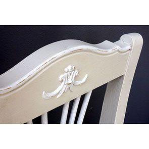 Chaise en bois sable rechampis blanc - Lubéron - Visuel n°4