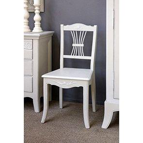 Chaise en bois sable rechampis blanc - Lubéron - Visuel n°2