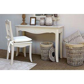 Chaise en bois sable rechampis blanc - Lubéron - Visuel n°3