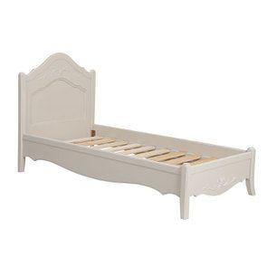Lit enfant 90x190 en bois sable rechampis blanc - Lubéron - Visuel n°3