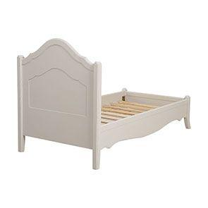Lit enfant 90x190 en bois sable rechampis blanc - Lubéron - Visuel n°4