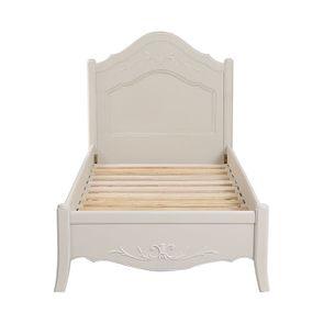 Lit enfant 90x190 en bois sable rechampis blanc - Lubéron - Visuel n°6
