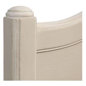 Lit 180x200 en bois sable rechampis blanc - Lubéron - Visuel n°9