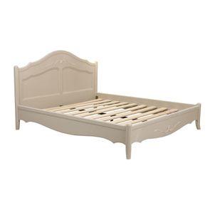 Lit 180x200 en bois sable rechampis blanc - Lubéron - Visuel n°4