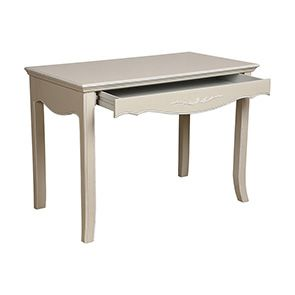 Bureau 1 tiroir sable rechampis blanc - Lubéron - Visuel n°2