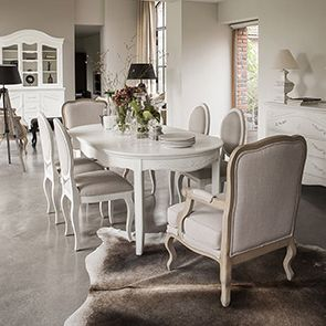 Commode 3 tiroirs en bois blanc vieilli - Lubéron - Visuel n°3