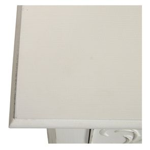Commode 3 tiroirs en bois blanc vieilli L106 cm - Lubéron - Visuel n°11