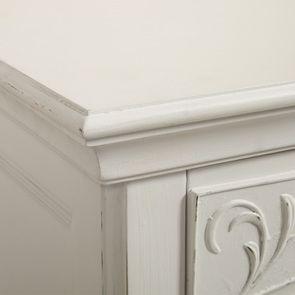 Commode 3 tiroirs en bois blanc vieilli L106 cm - Lubéron - Visuel n°12