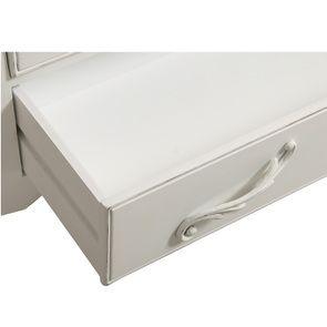Commode 3 tiroirs en bois blanc vieilli L106 cm - Lubéron - Visuel n°13