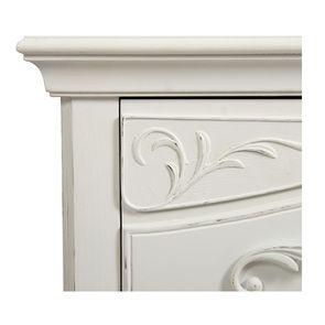 Commode 3 tiroirs en bois blanc vieilli L106 cm - Lubéron - Visuel n°14