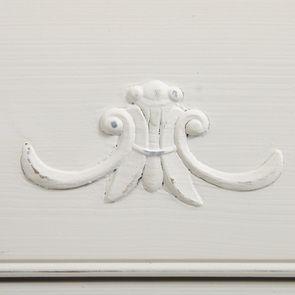 Commode 3 tiroirs en bois blanc vieilli L106 cm - Lubéron - Visuel n°15
