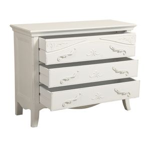 Commode 3 tiroirs en bois blanc vieilli L106 cm - Lubéron - Visuel n°5