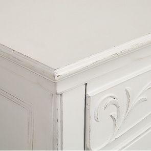 Commode blanche 3 tiroirs en bois L125 cm - Lubéron - Visuel n°12