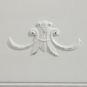 Commode blanche 3 tiroirs en bois L125 cm - Lubéron - Visuel n°15