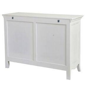 Commode blanche 3 tiroirs en bois L125 cm - Lubéron - Visuel n°8