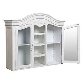 Haut de buffet vaisselier blanc 2 portes vitrées - Lubéron - Visuel n°5