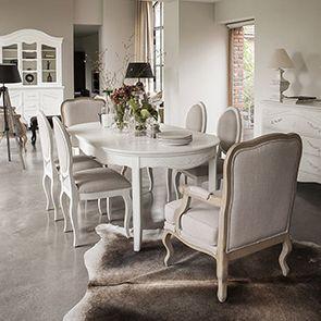 Haut de buffet vaisselier blanc 2 portes vitrées - Lubéron - Visuel n°4