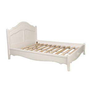 Lit 160x200 en bois blanc vieilli - Lubéron - Visuel n°2