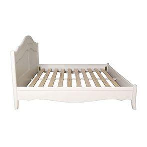 Lit 180x200 en bois blanc vieilli - Lubéron - Visuel n°2